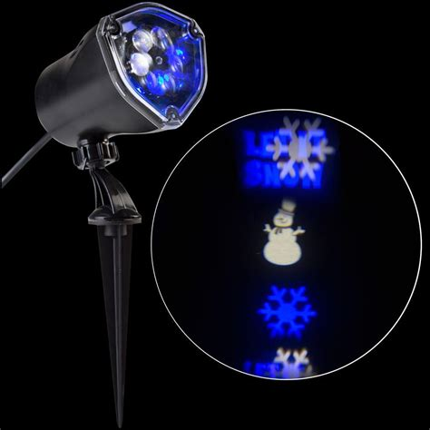 led light projector lightshow applights projection spot light stake 37871