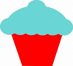 Blue And Red Cupcake Clip Art at Clker.com - vector clip ...