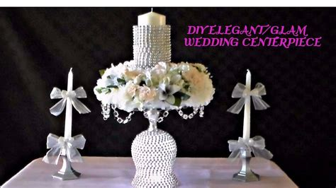diy wedding centerpieces youtube diy elegant glam wedding centerpiece youtube