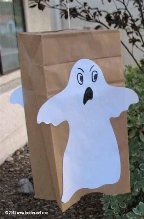 paper bag ghost halloween craft