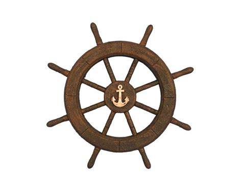 Boat Wheel by Flying Dutchman Ghost Pirate Ship Wheel With Anchor 18
