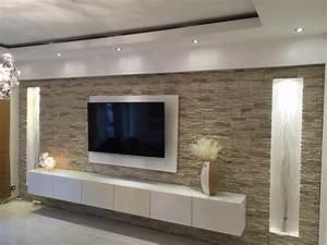 Steinwand Wohnzimmer Tv : die besten 25 steinwand wohnzimmer ideen auf pinterest steinwand innen tv wand beleuchtung ~ Bigdaddyawards.com Haus und Dekorationen