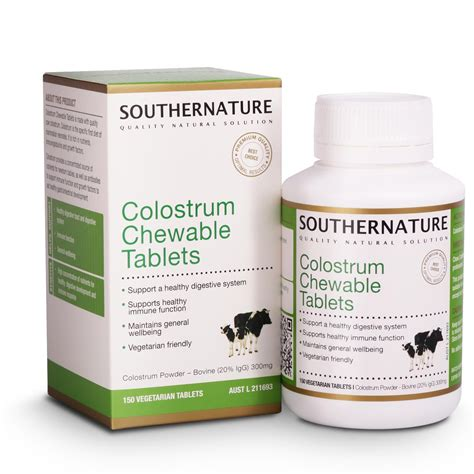 Colostrum Chewable Tablets Southernature