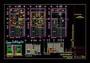 Two Story House with Garden 2D DWG Plan for AutoCAD