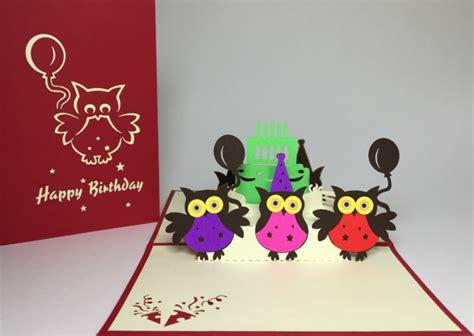 owl pop up card template 10 handmade card designs free premium templates