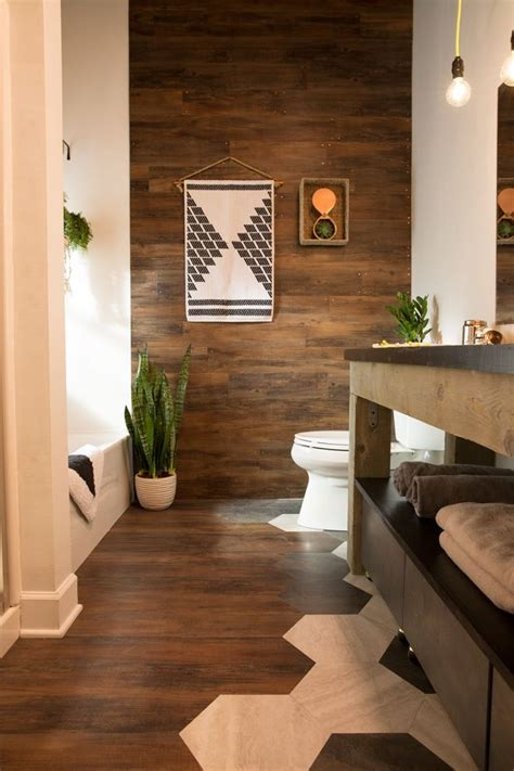 bathroom makeover blogger  builder grade flooring