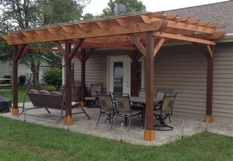 covered pergola plans   patio wood design etsy
