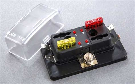 4 Position Atc/ato Fuse Block With Led Indicator Light