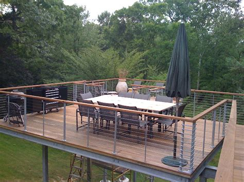 raised deck tokyo style cable railings images outdoor