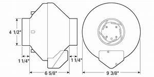 Fantech Hp2133 Inline Radon Fan 134 Cfm  4 Inch Round Duct