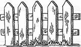 Fence Drawing Wooden Vector Illustration Sketch Graphics Boundary Adversity Background Drawn Graphic  Vectors sketch template