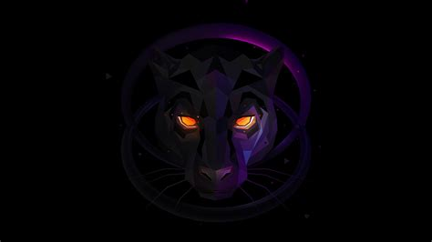 Wallpaper Panther, Wolf, Low poly, 3D, CGI, HD, Creative