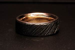 custom men39s iron and gold wedding ring by james dailing With iron wedding ring