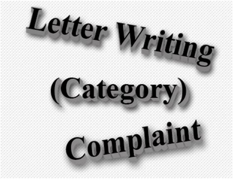 students sample complaint letter  police