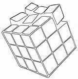 Cube Coloring Rubiks Bestcoloringpagesforkids Printable sketch template