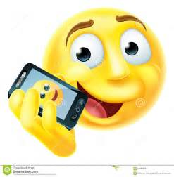Cell Phone Smiley-Face Emoji