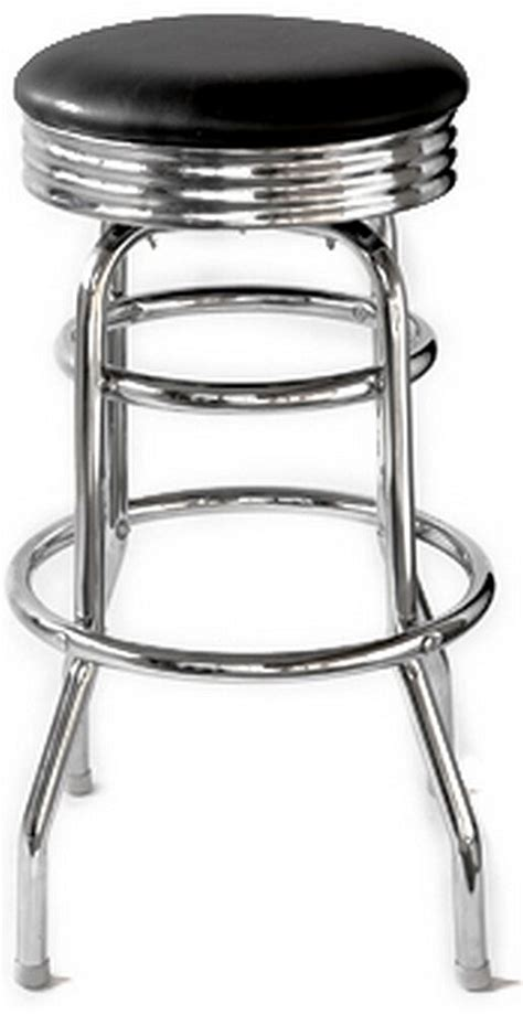 1950s Bar Stools Retro Diner Bar Stool Chrome Black Vinyl Seat 1 Dozen