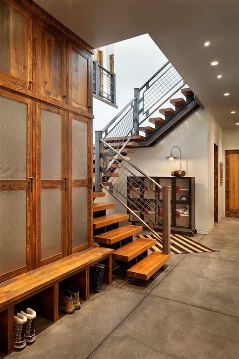 modern ski chalet  beautiful rustic interiors