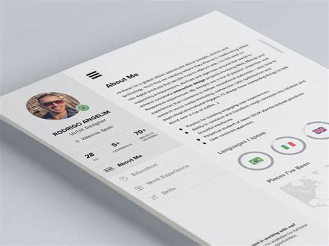 Cool Resume Psd by 28 Free Cv Resume Templates Html Psd Indesign Web Graphic Design Bashooka