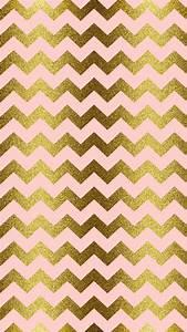 Gold glitter, blush pink, chevron | iPhone Wallpaper ...