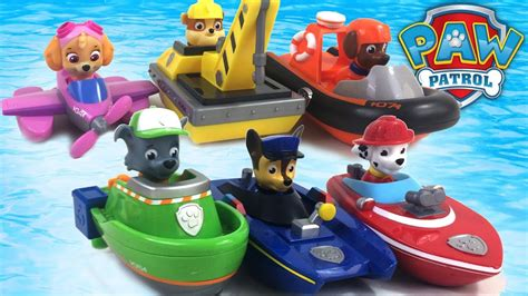Paw Patrol Bath Boat by Paw Patrol Bath Paddling Pup Boats Complete Collection