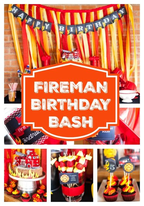 fireman birthday bash firefighter party ideas pretty