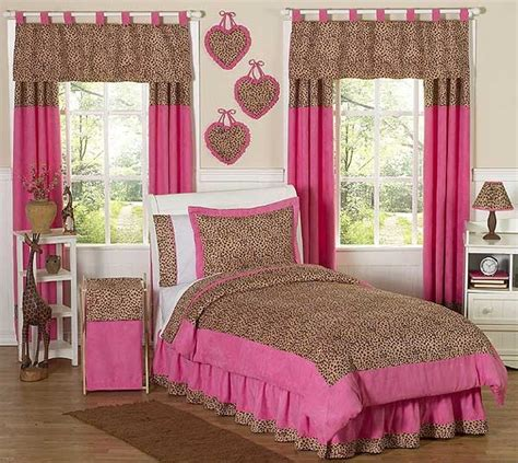 Cheetah Pink Animal Print Bedding Set  3 Piece Fullqueen