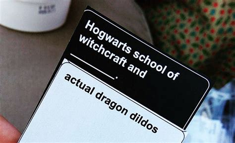 Similar to the cards against humanity game, it includes a lot of nswf topics but with a harry potter twist. NSFW Harry Potter Game 'Cards Against Muggles' Exists, And It's Too Riddikulus | DeMilked