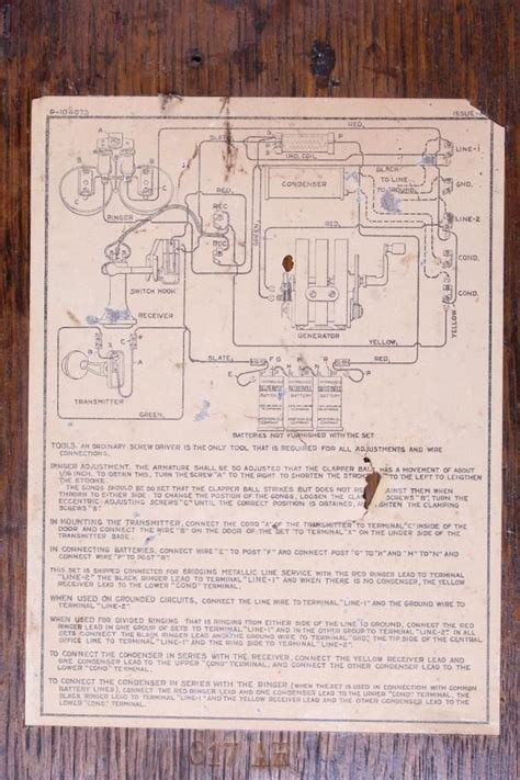 Antique Phone Wiring Diagram by 1907 1920 S Western Electric Model 317 Wall Phone