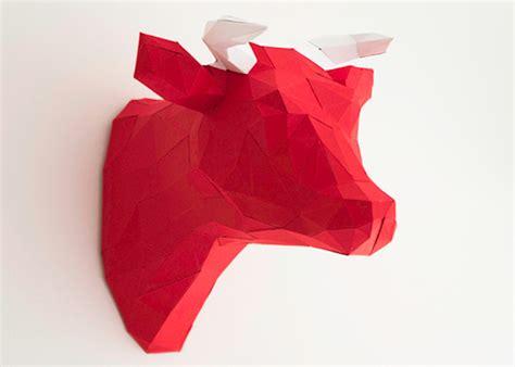 papier kuh als wanddeko diy love