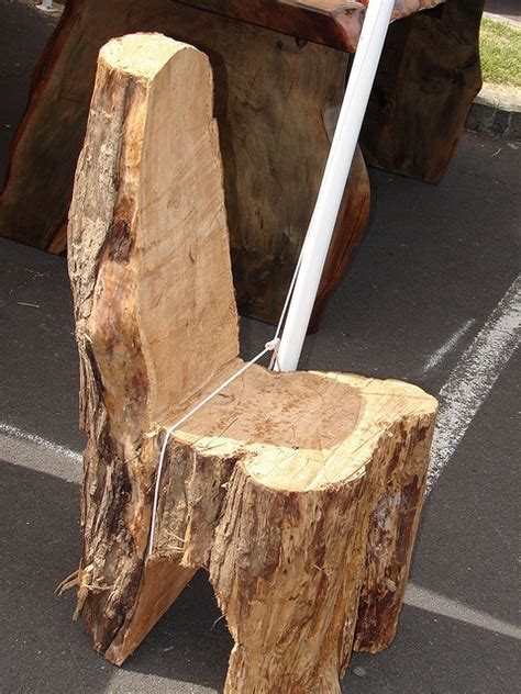 HomeOfficeDecoration   Lovely Tree Stump End Tables Chairs