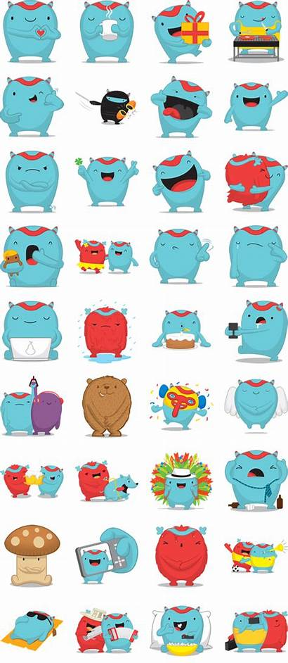 Stickers Mostropi Gratis Sticker Monsters Los Messenger