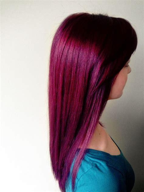 reddish purple hair color 99 best hairs images on