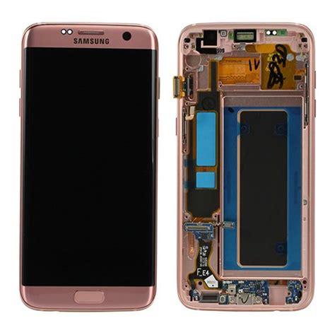 samsung g935f galaxy s7 edge lcd display module pink gold