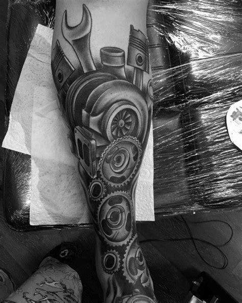 50 Turbo Tattoo Ideas For Men - Turbocharged Designs