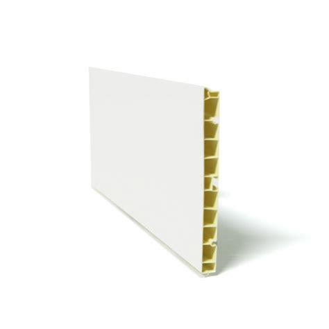 pvc pour cuisine plinthe de cuisine pvc blanc brillant l200 x h15 cm sokleo