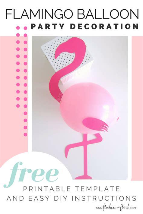 time  flamingle   diy flamingo party balloon