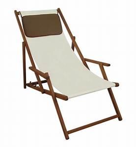 Matratze Garten Wetterfest : gartenliege wei deckchair garten liegestuhl sonnenliege mit kissen 10 303 kd ebay ~ Indierocktalk.com Haus und Dekorationen
