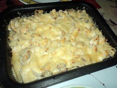 recette de gratin de pate au chignon et poulet