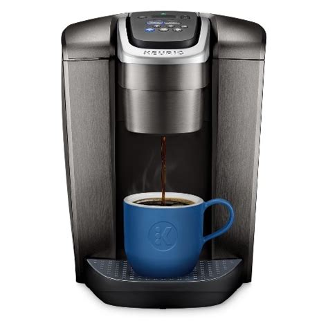 This keurig coffee maker features five brew sizes, can brew strong or iced coffee, plus has a hot water option. Keurig K-Elite Single-Serve K-Cup Pod Coffee Maker With Iced Coffee Setting - Brushed Slate : Target