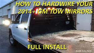 How To Hardwire Your 2014  Gm Tow Mirrors From Boost Auto