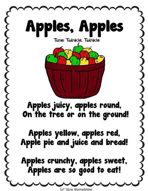 apple songs preschool free twenty poems for back to school themes include 239