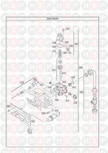 Main Multipoint Bf Water Heater  Gas Valve  Diagram