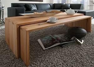 Beistelltische Holz : massivholz couchtisch set beistelltische kernbuche massiv holz ~ Pilothousefishingboats.com Haus und Dekorationen