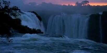 Waterfall Nature Responsibility Improve Sunset Gifs Pretty