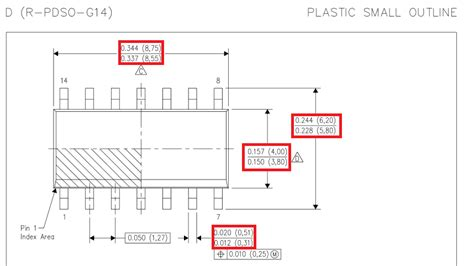 Integrated Circuit Soic Package Dimensions Confusion