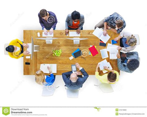 Group Of Diverse Various Occupations People Meeting