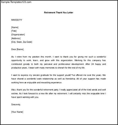 Resume Letter Sle by Retirement Letter Retirement Letters Livecareer 65 Sle