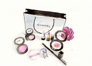 Chanel make-up Watercolor Make-Up illustration