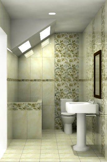 design kamar mandi  bawah tangga